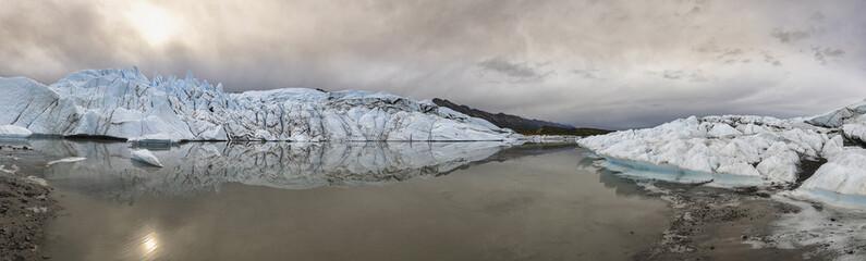 USA, Alaska, Ansicht der Chugach -Berge, Gletscher und Matanuska Matanuska Tal
