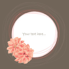 Place for your text with flower, graphic