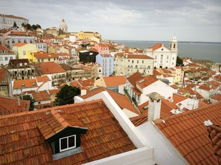 Old Lisbon cityscape