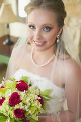 USA, Texas, Junge Braut Porträt