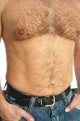 Man torso closeup