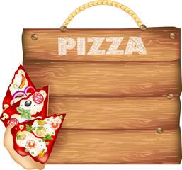 insegna Pizza