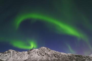 Norwegen, Troms, Ansicht der Aurora Borealis in der Nähe von Tromsø