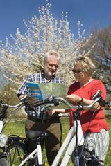 Deutschland, Bayern, Senioren Paar, Straßenkarte