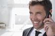 Spanien, Unternehmer sprechen Handy