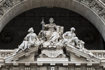 Justice inscription on Rome corte di cassazione palace
