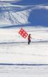 Mann mit Schweizer Fahne