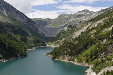 Österreich, Kärnten, Ober Tauern, Maltatal, Galgenbichl Staubehälter und Koelnbreinsperre