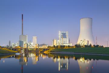 Deutschland, Blick auf Kohlekraftwerk