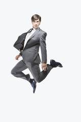 Geschäftsmann Springen