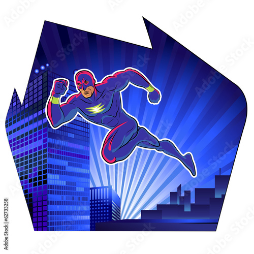Super hero. Vector illustration on a background