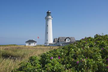 Dänemark, Ansicht Leuchtturm von Stadt