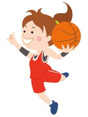 バスケットボール シュート 女性
