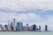 USA, Illinois, Chicago, Ansicht des Willis Tower mit Lake Michigan
