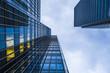 UK, London, Docklands, Fassaden bei Financal Bezirk