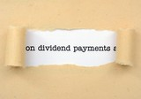 Dividend payments poster