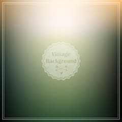 Soft blured background with retro style sign