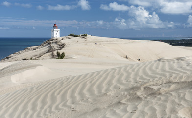 Dänemark, Ansicht  Leuchtturm in der Nähe von Meer