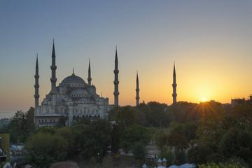 Türkei, Istanbul, Ansicht der Sultan-Ahmed- Moschee in Sultanahmet-Viertel