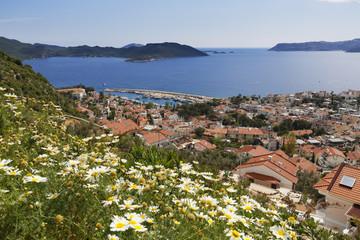 Türkei, Antalya, Ansicht von Kas zu Insel Kastellorizo