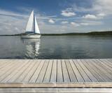 Empty wooden jetty