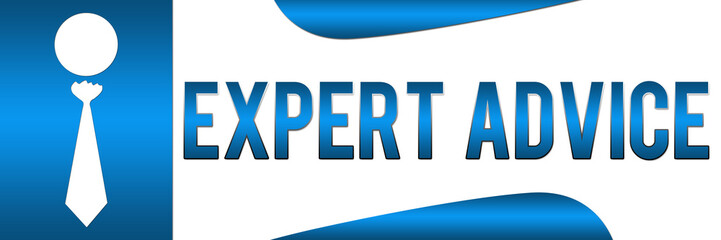 Expert Advice Blue Horizontal