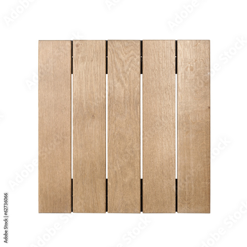 Wooden garden tile isolated with clipping path
