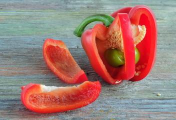 Paprika Mutation rotgrün