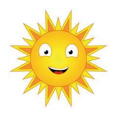 friendly sun shining bright