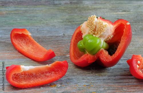 Paprika Mutation rot-grün neue Zucht