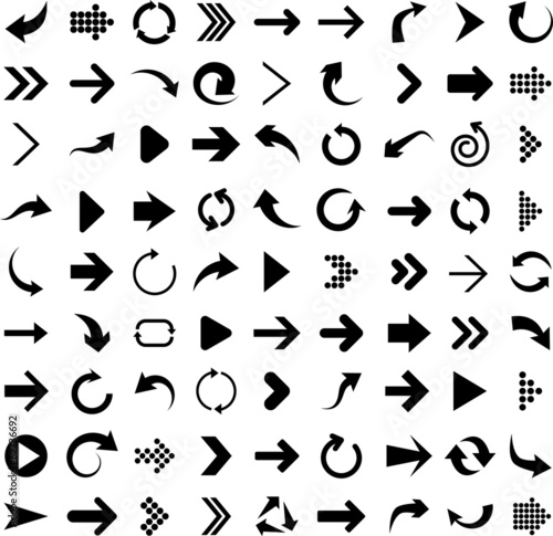 Set of arrow icons. - 62736692