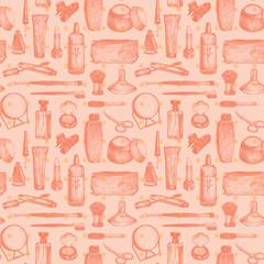 Cosmetics And Beauty Seamless Pattern