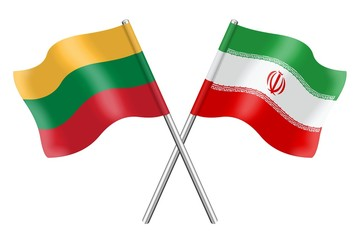 Flags : Lithuania and Iran