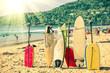 Surfboards at the beach - Nostalgic retro version