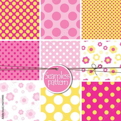 Set of cute seamless patterns