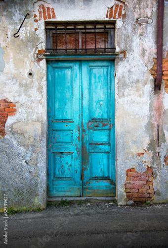 Canvas Rudnes vecchia porta di legno