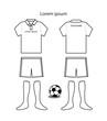 Soccer uniform template vector