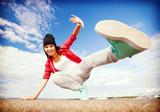 Fototapety beautiful dancing girl in movement