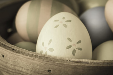 Painted Easter Eggs - Vintage Style