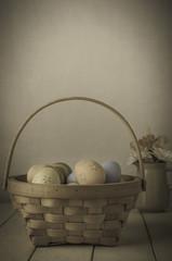Easter Egg BAsket and Flowers - Vintage