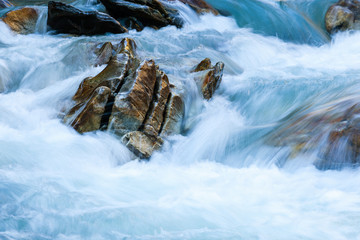 Rocks in waterfall