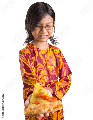 Young Girl Dislike Pizza