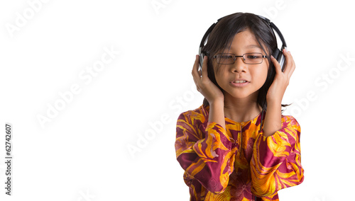 Young Girl Listening To Headphone