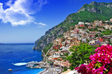Fototapety beautiful scenery of amalfi coast of Italy, Positano.
