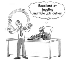 Job juggling by exec juggler is excellent