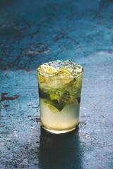 Fresh caipirinha cocktail.