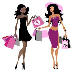 Women shopping bags