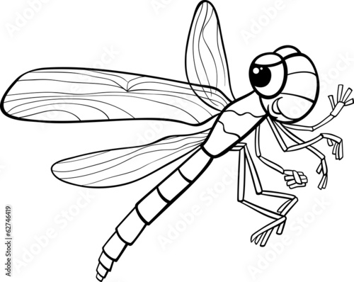 dragonfly insect coloring page