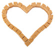 Heart from not refined reed granulated sugar