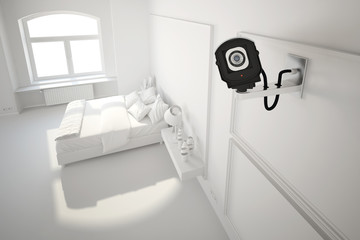 cctv camera in bedroom